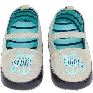 New Sourpuss Sailor Girl Crib Mary Jane Shoes